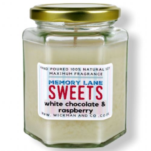 Memory Lane Sweets - White Chocolate & Raspberry Soy Wax Candle